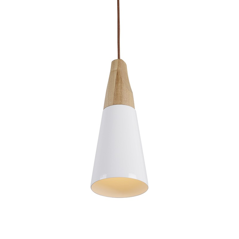 Contemporary Wooden Pendant Light