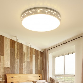 Tripcolor LED Wooden Ceiling Light