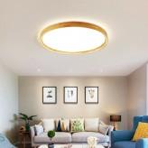 Tricolor LED Wooden Ceiling Light