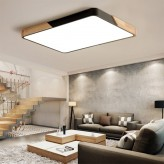 Tricolor LED Wooden Ceiling Light