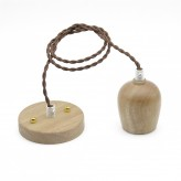 Wood Bulb Holder